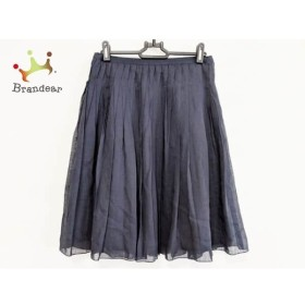 ジユウク 自由区/jiyuku スカート サイズ38 M レディース 美品 ダークネイビー プリーツ     スペシャル特価 20190904