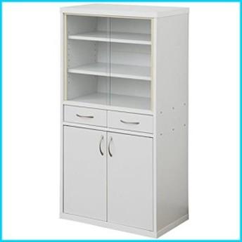 山善 YAMAZEN 山善(YAMAZEN) 食器棚 カップボード(高さ120) ホワイト CRAF-1260CB(WH)