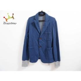 アドルフォドミンゲス ADOLFO DOMINGUEZ ジャケット サイズ46 XL メンズ ブルー×グレー   スペシャル特価 20190818【人気】