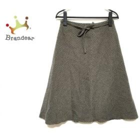 ホコモモラ JOCOMOMOLA スカート サイズ38 L レディース 美品 カーキ×アイボリー   スペシャル特価 20190818