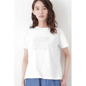 【SALE(三越)】<HUMAN WOMAN/ヒューマンウーマン> イラストプリントTシャツ(0779160501) 030ホワイト 【三越・伊勢丹/公式】