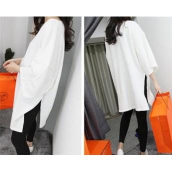 Tシャツワンピース レディース 新作 春夏にピッタリ 体型カバー スカート上品 ドレス 半袖 ロングTシャツ おしゃれ 可愛い韓国ファッショ