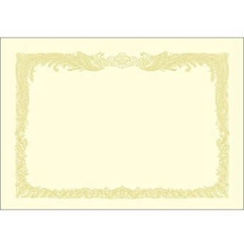 ササガワ タカ印 賞状用紙 OA対応 A4 縦書き 100枚 クリーム 10-1167