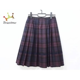 ロイスクレヨン Lois CRAYON スカート サイズM レディース 美品 パープル×黒×ネイビー 新着 20190510