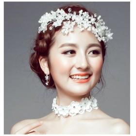 75b1022184e72 ウエディングヘッドドレス 4個セット 髪飾り ヘアアクセサリー ブライダル 結婚式 花嫁 パールビーズ