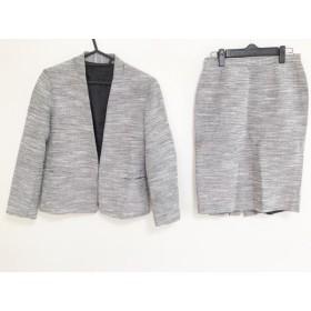 【中古】 モガ MOGA スカートスーツ サイズ2 M レディース 白 黒 ラメ