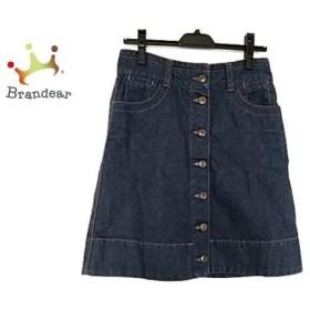 チェスティ Chesty スカート サイズ0 XS レディース 美品 ブルー×パープル×レッド デニム/刺繍     スペシャル特価 20190904