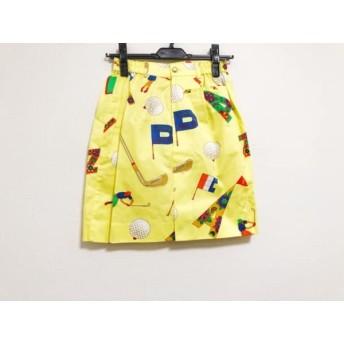 【中古】 レオナール LEONARD スカート レディース 美品 イエロー レッド マルチ SPORT