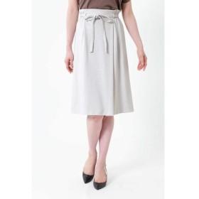 NATURAL BEAUTY / ナチュラルビューティー ◆[ウォッシャブル]ミラノリブリボン付スカート