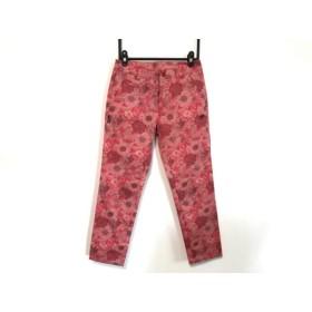 【中古】 マスターバニーエディション パンツ サイズ00 XS レディース 美品 レッド ピンク 黒 花柄