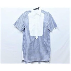 【中古】 アドーア ADORE チュニック サイズ36 S レディース 531140406 ネイビー 白 ストライプシャツ