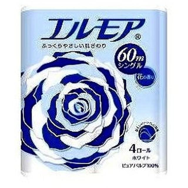 カミ商事 エルモア トイレットペーパー シングル 60m×4ロール入|4971633161849(tc)