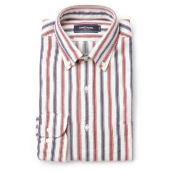 NEWYORKER / オメガ オルタネイトストライプ / 長袖ボタンダウンカジュアルシャツ