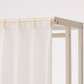 ハンガーラック(木製フレーム・カーテン付き) - セシール ■カラー:アンティックホワイト ブラウン ナチュラル ■サイズ:C,A,B
