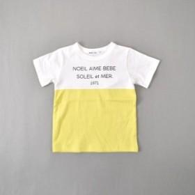 ノイユエームベベ(Noeil aim BeBe)/天竺バイカラーTシャツ