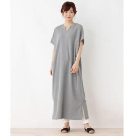 3can4on / サンカンシオン 【洗える】ワッフルTシャツワンピース