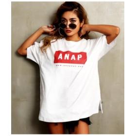 (ANAP/アナップ)ANAPロゴBIGTシャツ/レディース RD