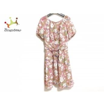 ジルバイジルスチュアート ワンピース サイズM レディース 美品 ピンク×白×マルチ 花柄 スペシャル特価 20190822