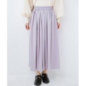 (haco!/ハコ)きれいなお姉さんになれる気がするミモレ丈フレアースカート/レディース ライトグレー