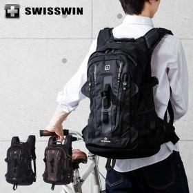 SWISSWIN リュック リュックサック ビジネスリュック メンズ SW9972 スイスウィン ブラック ブラウン 撥水 PC対応