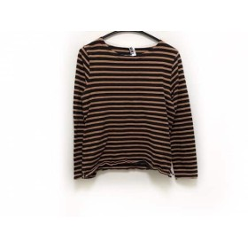 【中古】 マーガレットハウエル MHL. 長袖Tシャツ サイズ2 M レディース 黒 ブラウン ボーダー