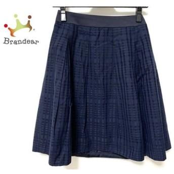 ニジュウサンク 23区 スカート サイズ30 XS レディース 美品 ダークネイビー スペシャル特価 20190822