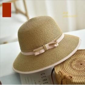 つば広帽子 折りたたみ バケットハット レディース 小顔効果 日よけ 日よけ帽子 ハット 無地 代引不可 サンバイザー 砂浜 リボン 紫外線