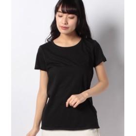 (SISLEY/シスレー)コットンモダールラウンドネック半袖Tシャツ・カットソー/レディース ブラック