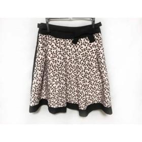 【中古】 エムズグレイシー M'S GRACY スカート レディース 美品 ピンク ダークブラウン 黒 リボン