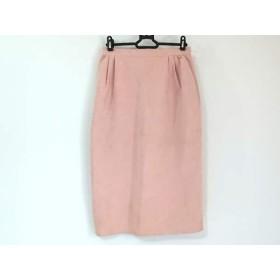 【中古】 フォクシー FOXEY スカート サイズ42 L レディース ピンク フェイクレザー
