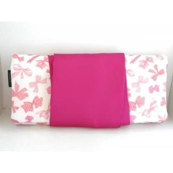【中古】 メゾンドフルール Maison de FLEUR 小物入れ 白 ピンク アクセサリーケース ナイロン