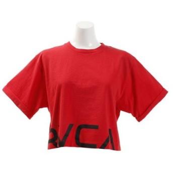 RVCA 【オンライン特価】 CRPD RVCA 半袖Tシャツ AJ043201 RED (Lady's)