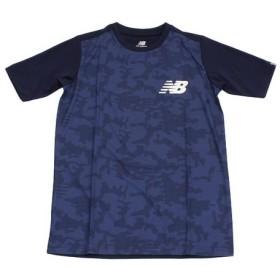 ニューバランス(new balance) カモスムースニット 半袖Tシャツ JJTP8878NV (Jr)