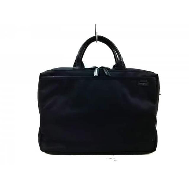 【中古】 サムソナイト Samsonite ビジネスバッグ 美品 黒 ナイロン レザー