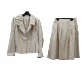 【中古】 ヒロコビス HIROKO BIS スカートスーツ サイズ13AB L レディース 美品 アイボリー
