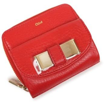 クロエ リリィ ラウンドファスナー 二つ折り財布 赤 レッド 3P0503 箱付(新品・未使用品)