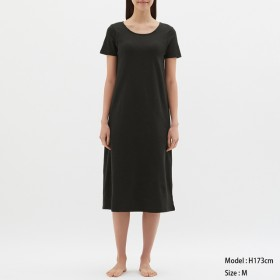(GU)ブラフィールワンピース(半袖) BLACK XL