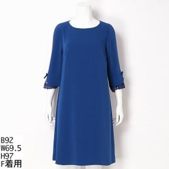 ラクープ(LACOUPE)/【大きいサイズ】袖口レースワンピースドレス