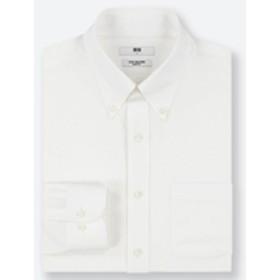 ファインクロススーパーノンアイロンスリムフィットシャツ(ボタンダウン・長袖)