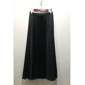 経堂) UNITED ARROWS ユナイテッドアローズ 日本製 プリーツスカート グリーン サイズ36