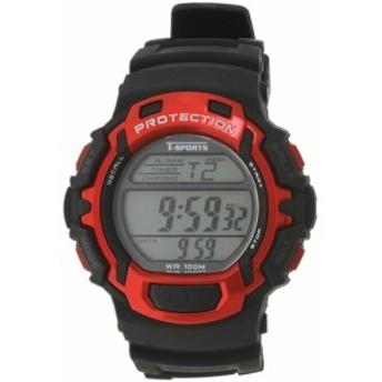 クレファー(CREPHA) 50LAPウォッチ レッド TS-D018-RD 【ランニングウォッチ 腕時計 デジタル時計 50ラップメモリー 10気圧防水】