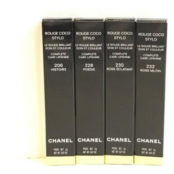 二子玉) シャネル Chanel ルージュココスティロ ROUGE COCO STYLO (1) 4本セット 206 228 230 232 赤 ピンク