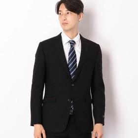 [マルイ] 2釦シングルスーツ 0タック/プレミアムブラック×ソリッド/Super 100's【X MODEL】/スーツセレクト(メンズ)(SUIT SELECT)