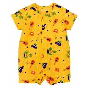 新生児 [べビー]ミキハウス ホットビスケッツ ショートオール イエロー ベビー・キッズウェア 新生児・乳児(50~80cm) カバーオール・ロンパース (154)
