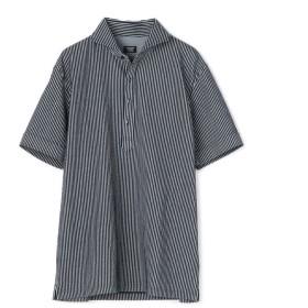 【20%OFF】 メンズビギ ポロシャツ/ニットサッカー メンズ ホワイト×ネイビー L 【Men's Bigi】 【セール開催中】