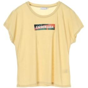 【オンワード】 SEVENDAYS=SUNDAY(セブンデイズ サンデイ) ・エンセナーダボックスロゴプリントTシャツ Yellow M レディース 【送料無料】
