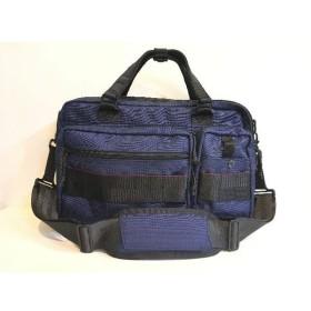二子玉) ブリーフィング BRIEFING A4ライナー ブリーフケース バッグ 2WAY ブルー ナイロン メンズ 定価4.7万