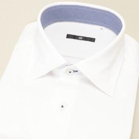 [マルイ] ワイドカラ-ドレスシャツ/白無地/スーパーノンアイロンニットシャツ 【BL-3MODEL やや細め】/スーツセレクト(メンズ)(SUIT SELECT)