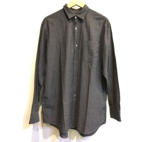 二子玉) コモリ COMOLI ベタシャンシャツ 3 ブラック コットン メンズトップス