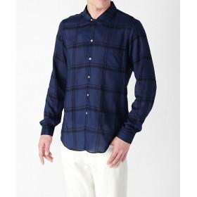 【SALE(伊勢丹)】<VANGHER/ヴァンガー> オープンカラーチェックシャツ 690ネービー 【三越・伊勢丹/公式】